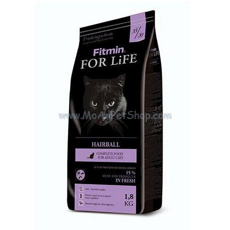 Hạt Mèo FITMIN CAT FOR LIFE HAIRBALL 8kg