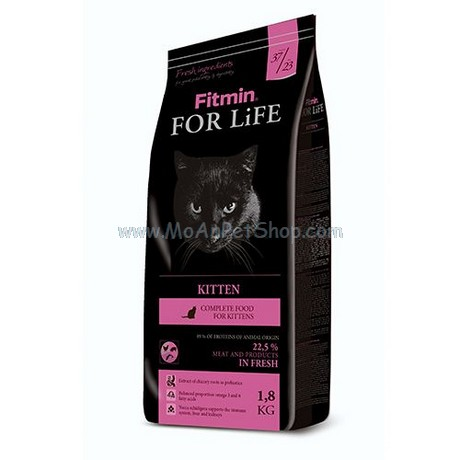 Hạt Mèo FITMIN CAT FOR LIFE KITTEN 8kg