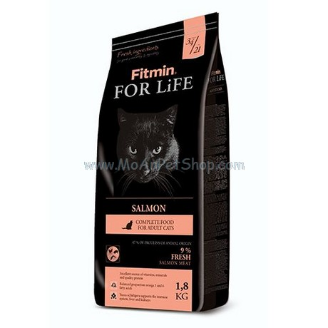 Hạt Mèo FITMIN CAT FOR LIFE SALMON 8kg