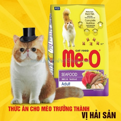 Hạt Mèo Me-O Cat Hải Sản Seafood 350g