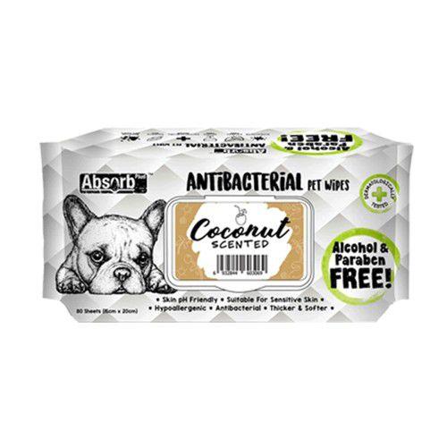 Khăn giấy ướt diệt khuẩn khử mùi Absorb Plus [Dừa] 80 miếng