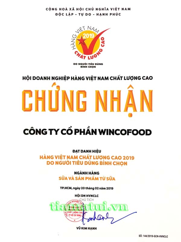 công ty wincofood sữa goldcare