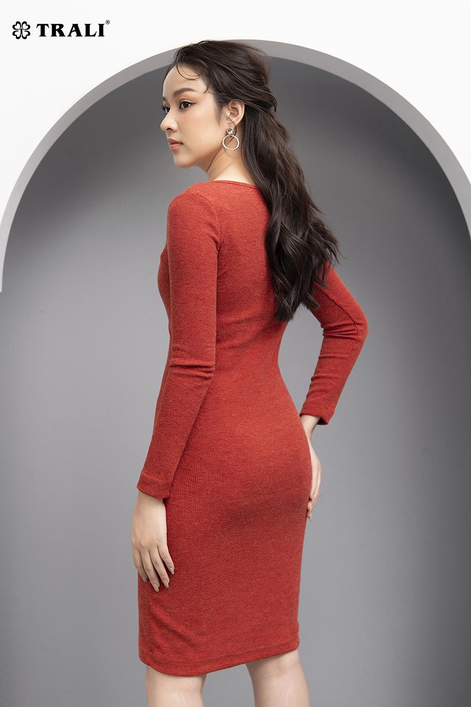 Đầm len 26021 đỏ