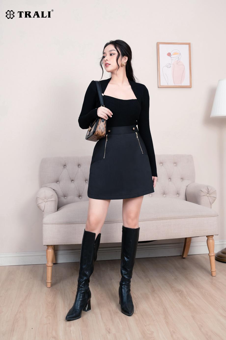 Áo len 17011 đen