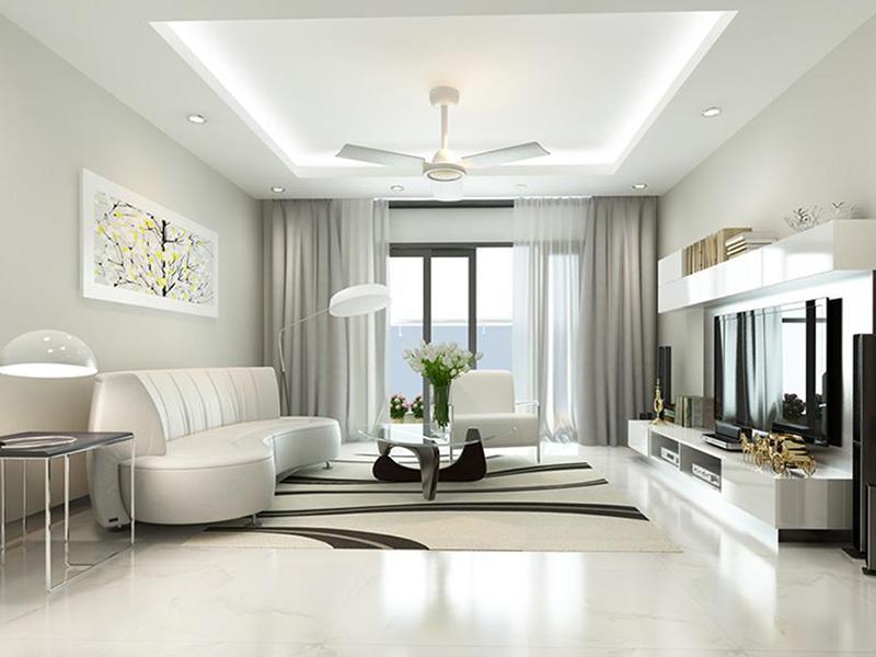 Thiết kế nội thất hiện đại với bố cục đơn giản, cân đối giản lược
