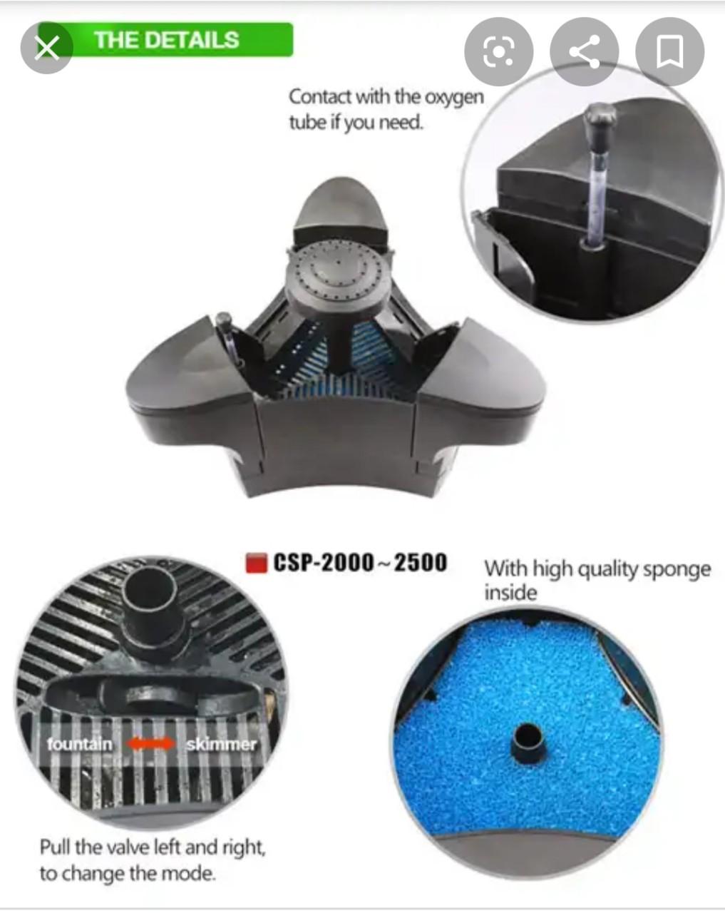Hút mặt - Đài phun nước GRECH CSP 2000 - 2500