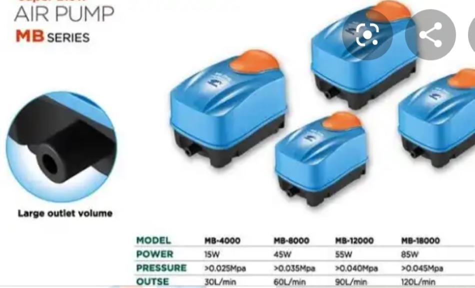 Máy sục khí Hồ Koi Periha MB: MB 4000 - MB 8000 - MB 12000 - MB 18000