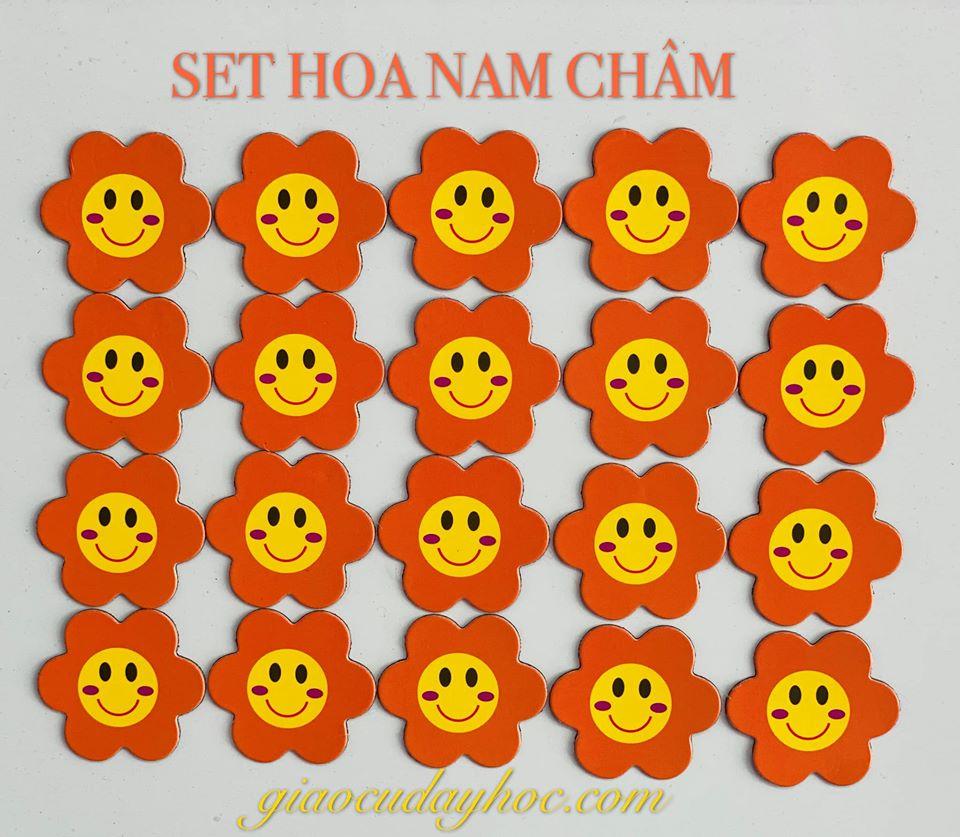 Set Bông Hoa Nam Châm