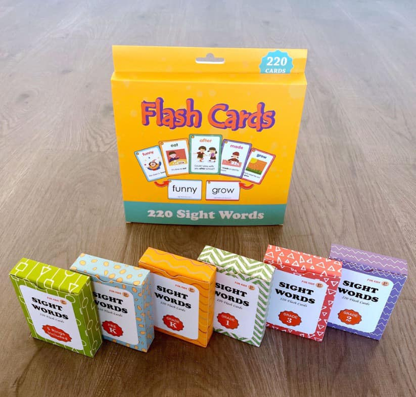 FLASHCARDS 220 SIGHT WORDS