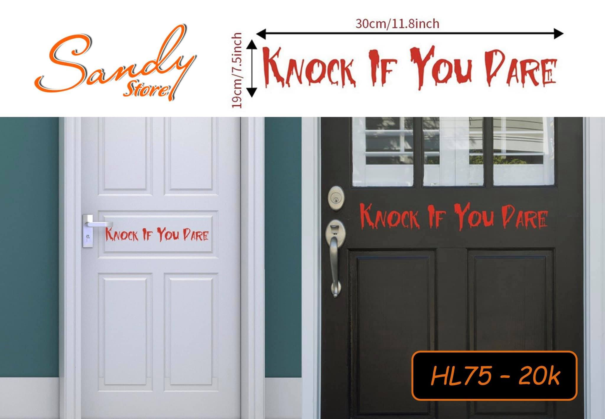 HL75 - Decal Knock If You Dare