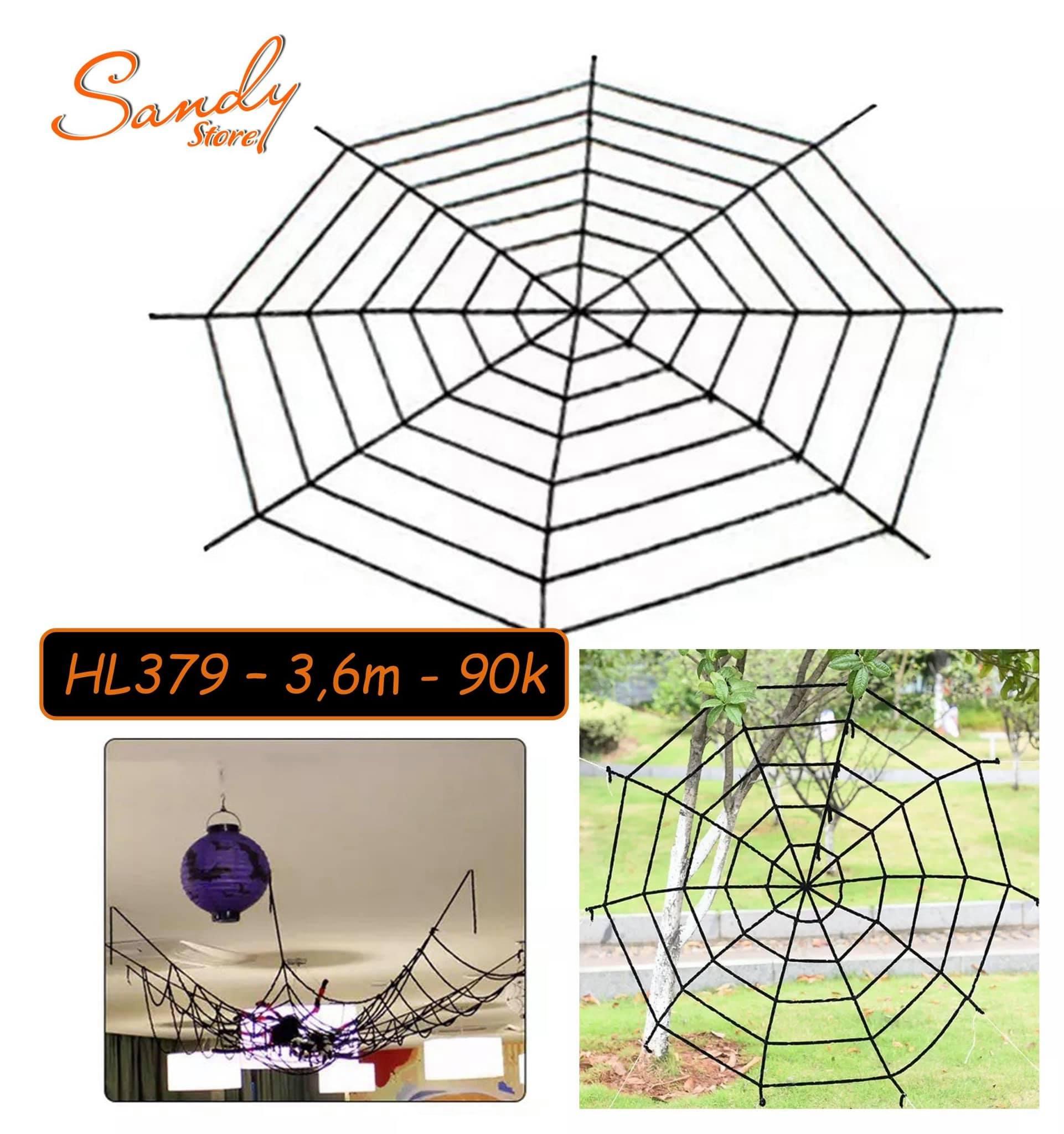 HL379 - Lưới Nhện 3,6m (Đen)