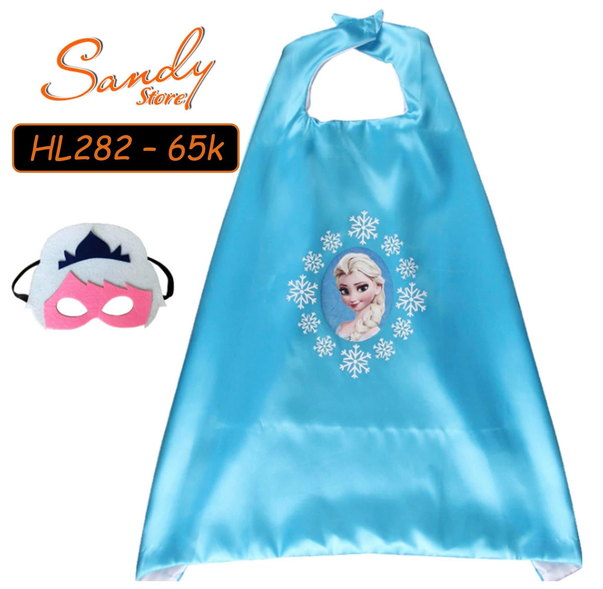 HL282 - Choàng Elsa Xanh + Mặt Nạ
