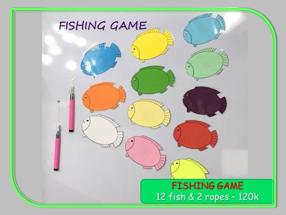 Câu Cá Game (Bộ 12 Cá + 2 Cần Câu)