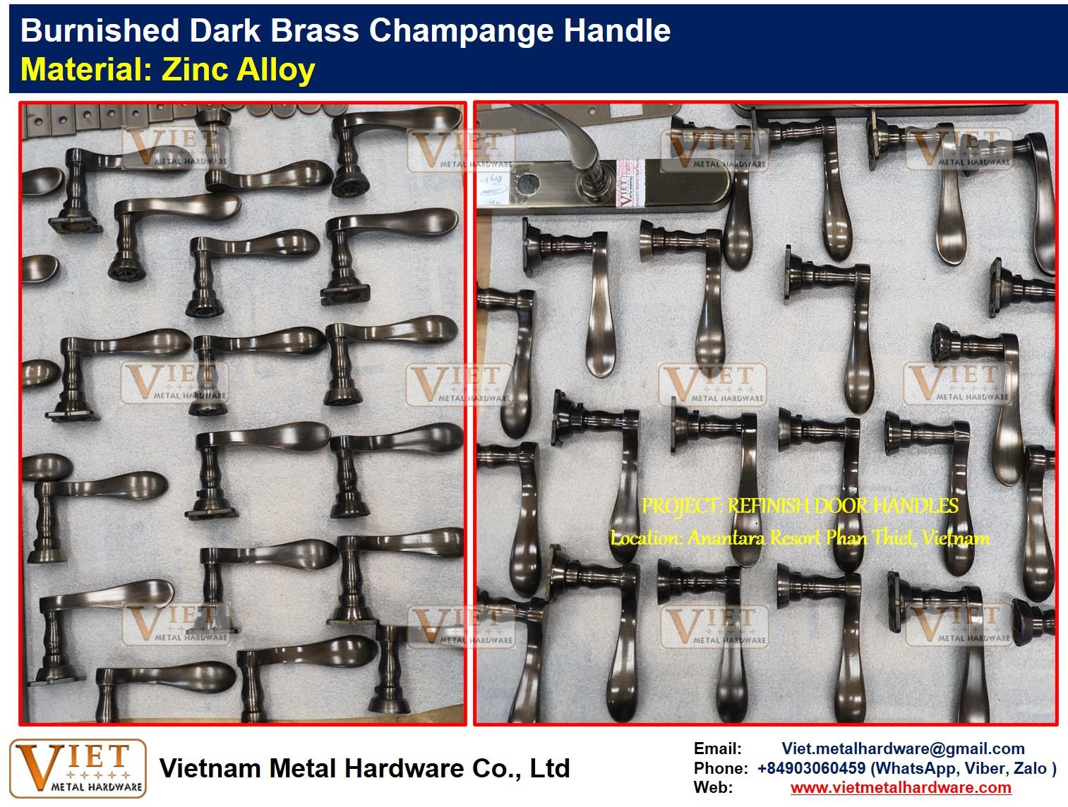 Burnished Dark Brass Champange Handle