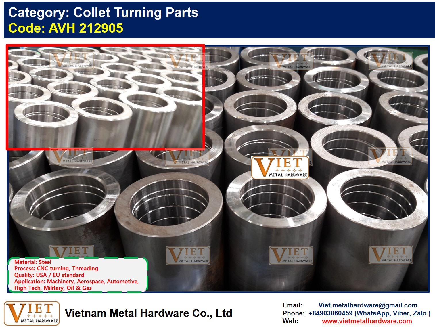 Collet Turning Parts