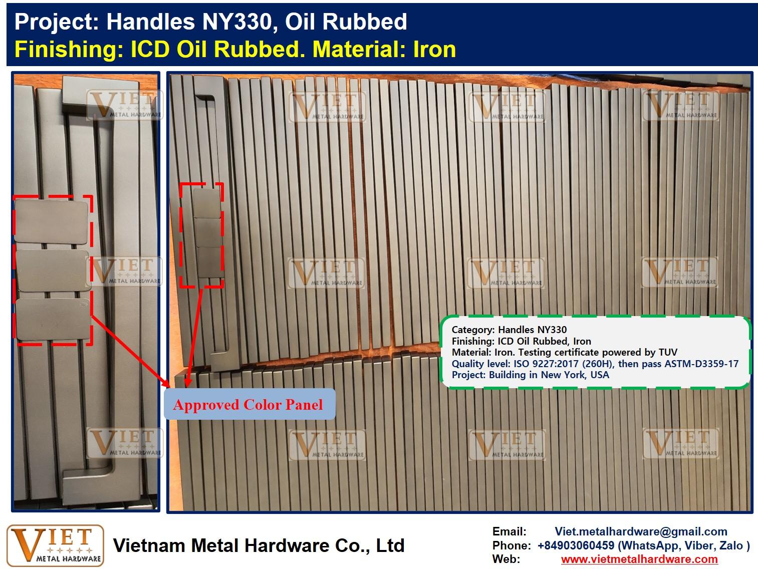 Handles NY330, Oil Rubbed