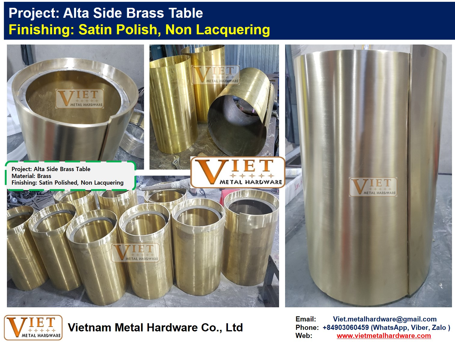 Alta Side Brass Table