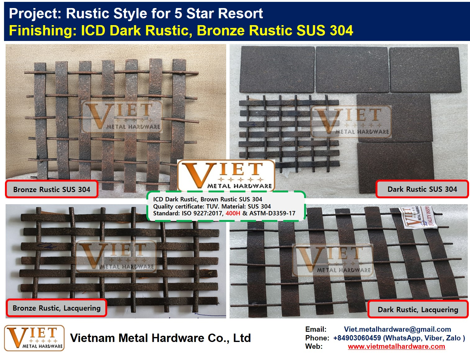 ICD Wire Mesh Rustic Style on SUS 304