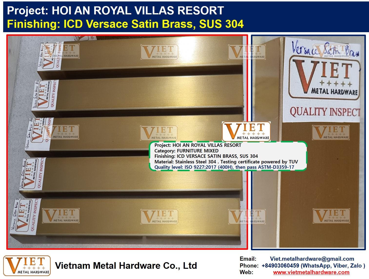 ICD Versace Satin Brass, HOI AN ROYAL VILLAS RESORT