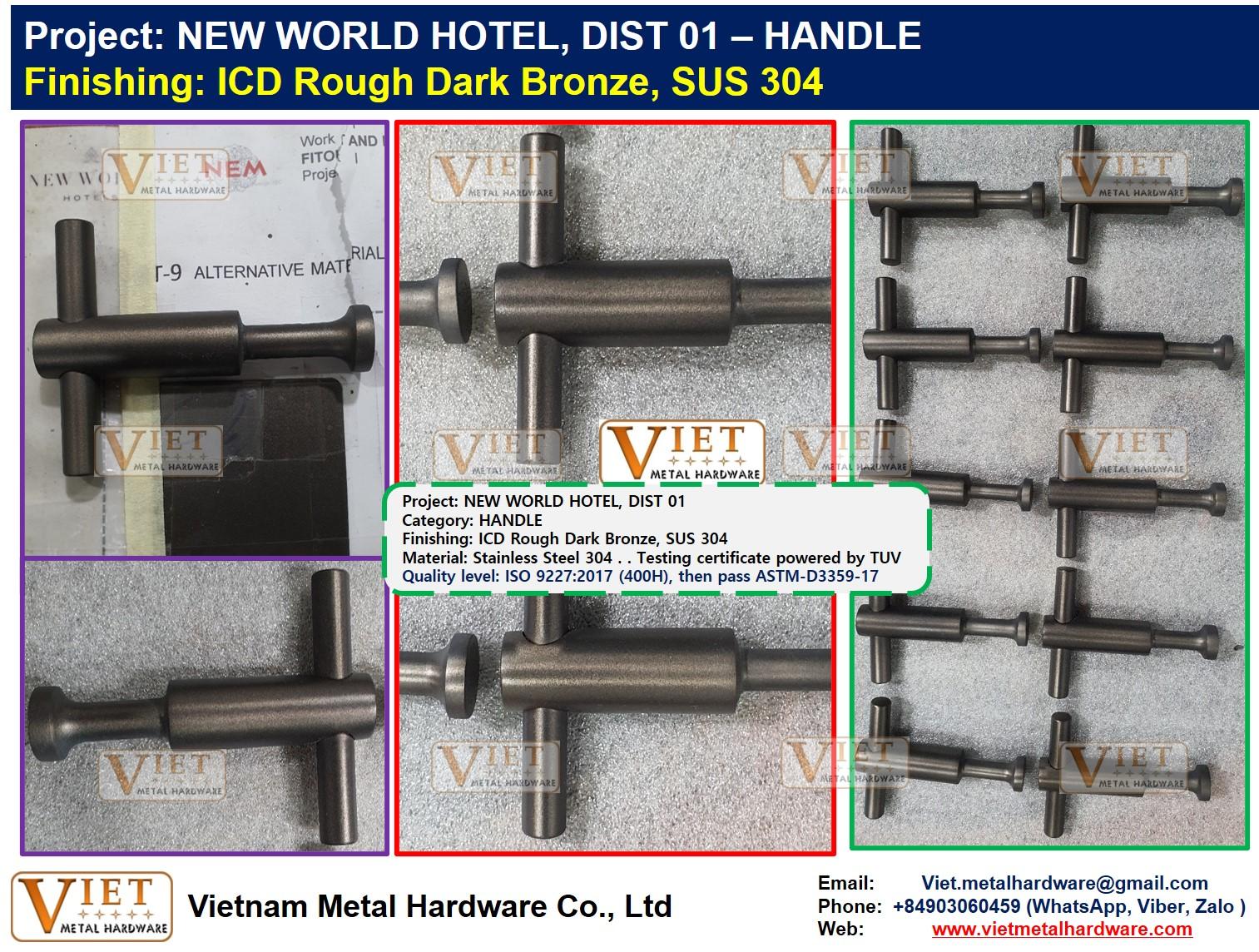NEW WORLD HOTEL, HANDLE  ICD Rough Dark Bronze, SUS 304