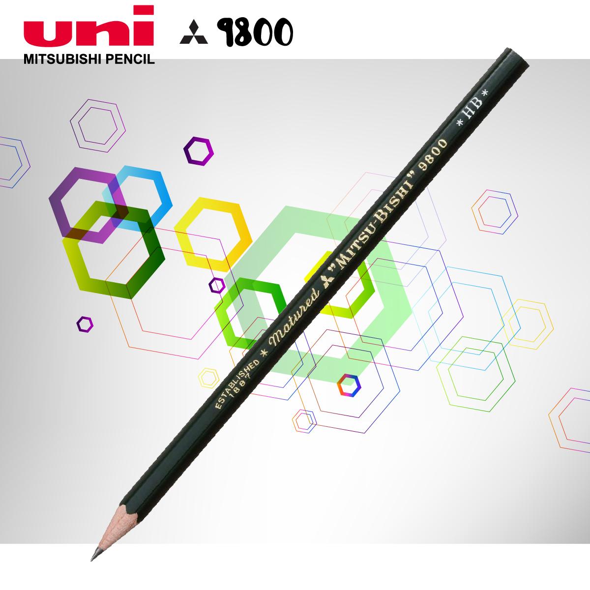Bút chì gỗ thiết kế Mitsubishi (9800DX)