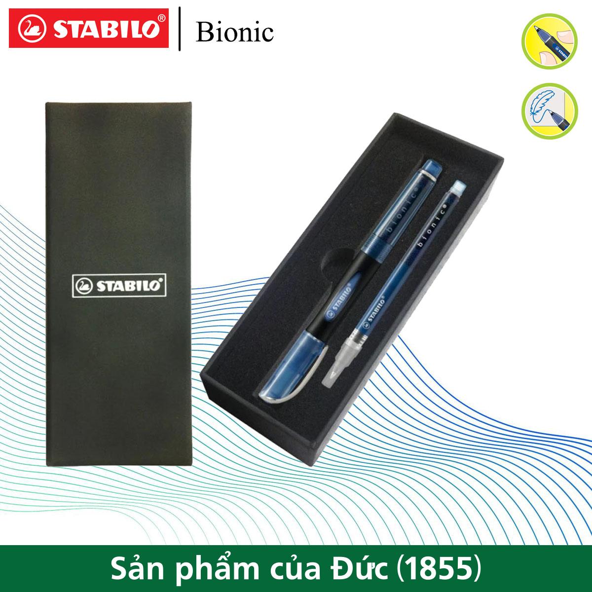 Bộ 1 Bút bi nước STABILO bionic + Ruột STABILO BNCR (BNCS)