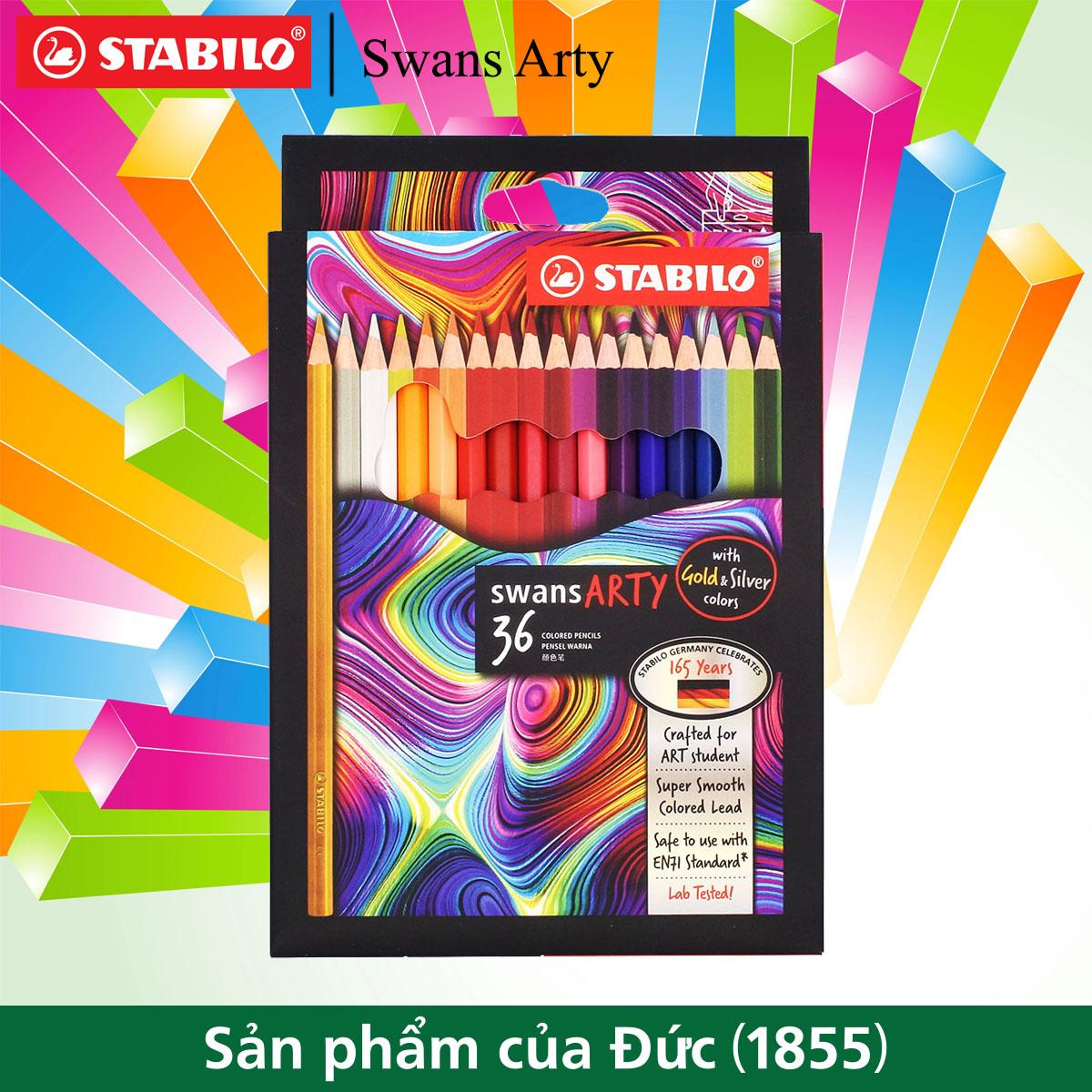 Chì màu STABILO Swans Arty 36 màu/hộp (CLA-36)