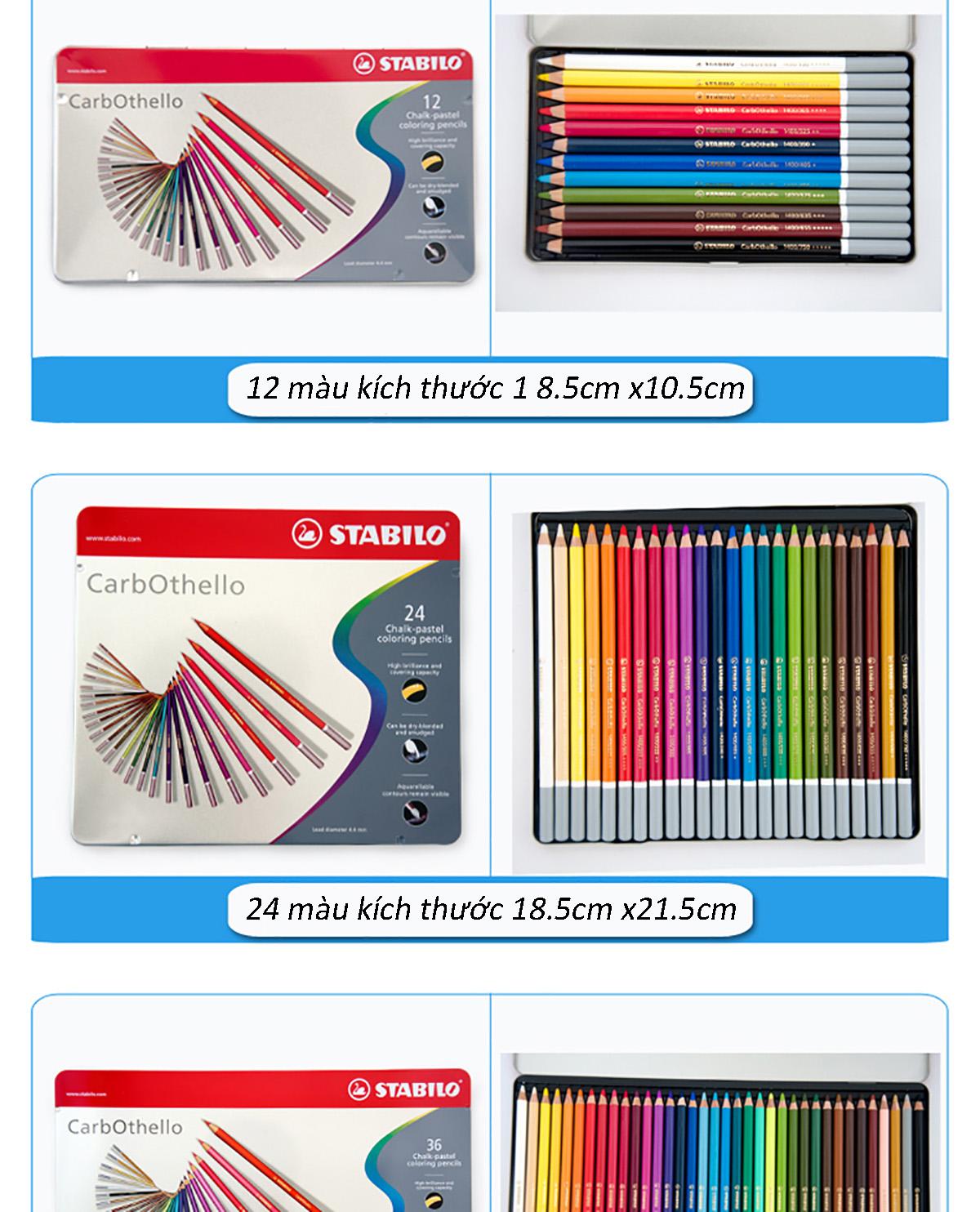 Bút chì màu đa năng STABILO CarbOthello (CLC14)