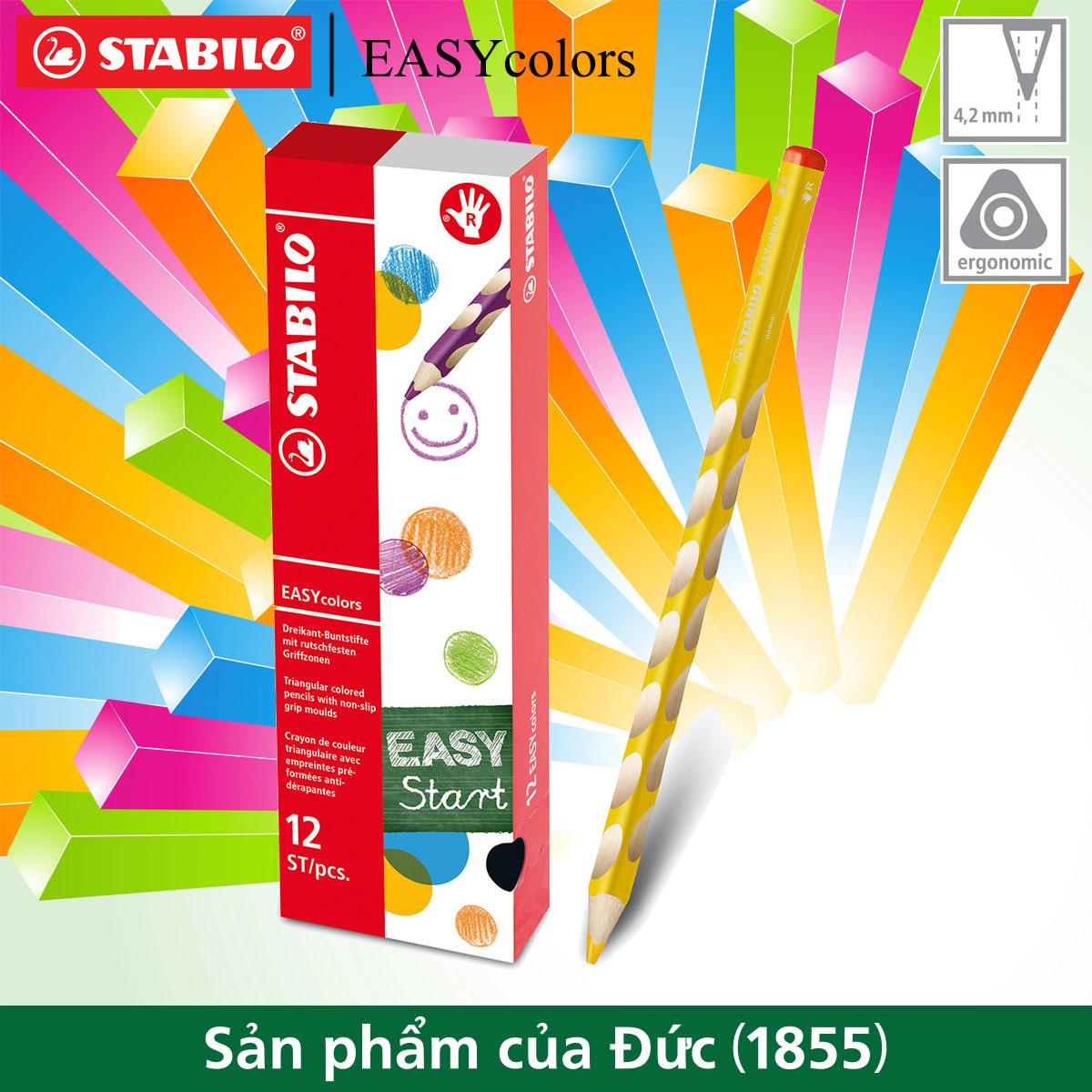 Bộ 12 cây bút chì màu STABILO EASYcolors, tay phải (CLE33R/12)