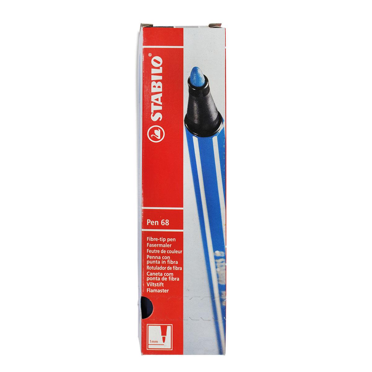 Hộp 10 Bút lông STABILO Pen 68 1.0mm màu bùn xanh phấn (PN68/10-37)
