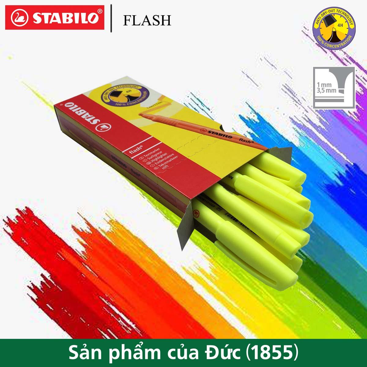 Hộp 10 cây bút dạ quang STABILO FLASH (HL555/10)