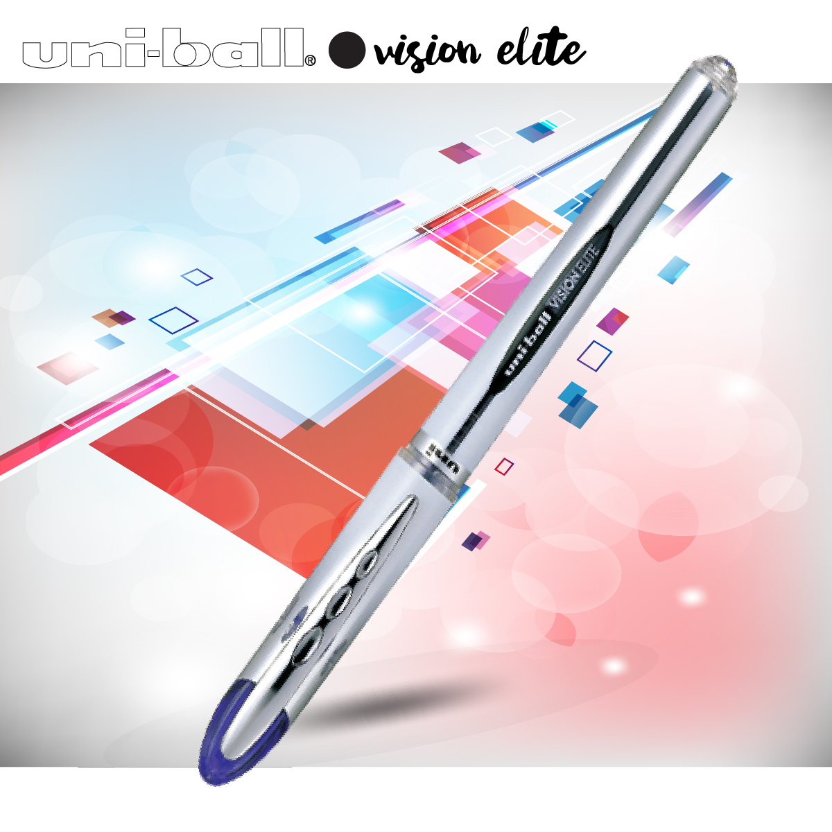 Bút bi nước nắp UNI-ball VISION ELITE 0.8mm (UB200)