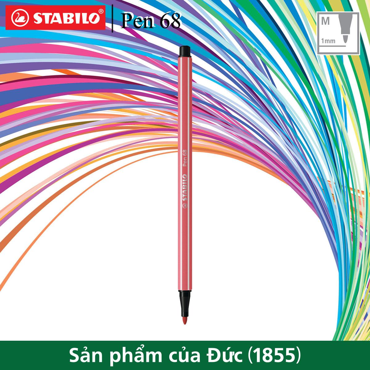 Bút lông STABILO Pen 68 1.0mm màu đỏ rỉ sét phấn (PN68-47)