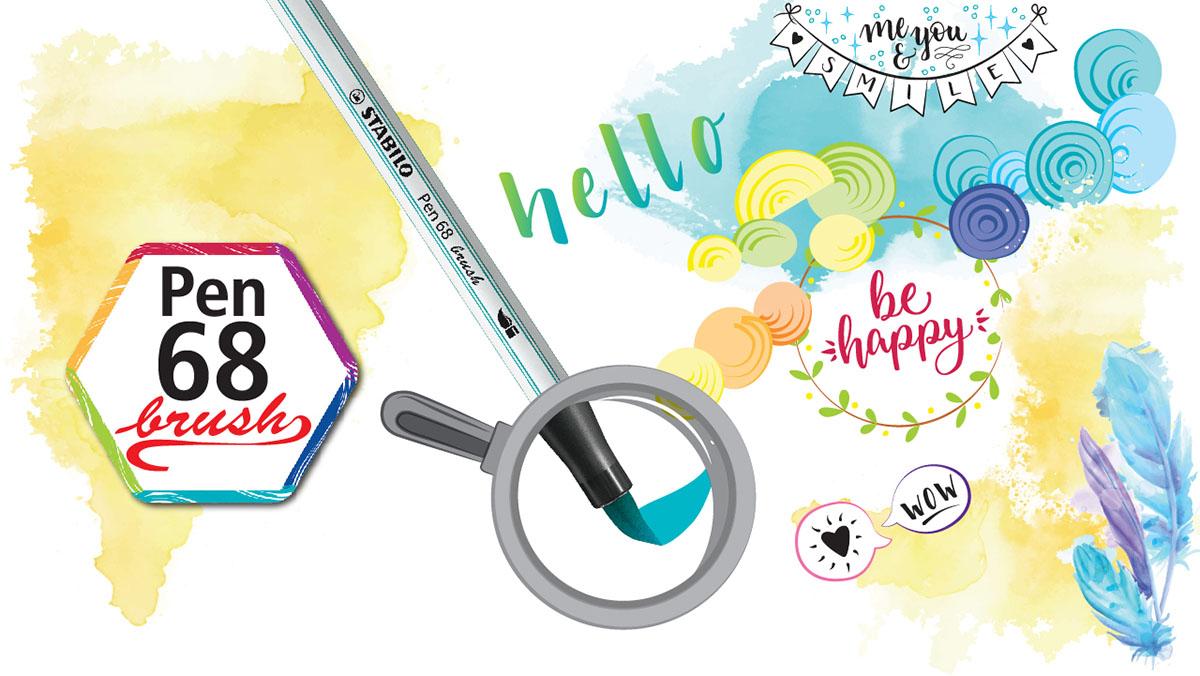Hộp 10 cây bút lông màu STABILO Pen 68 brush (PN68BR/10)