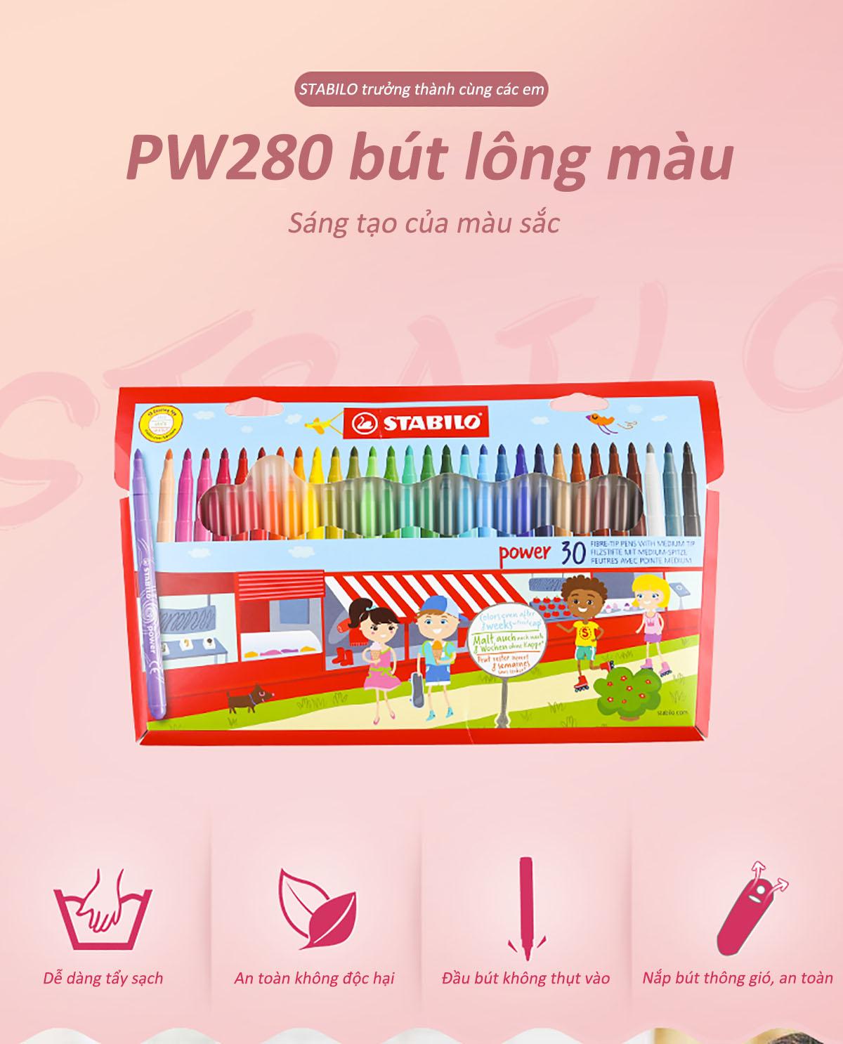 Bút lông đầu to STABILO Power PW280