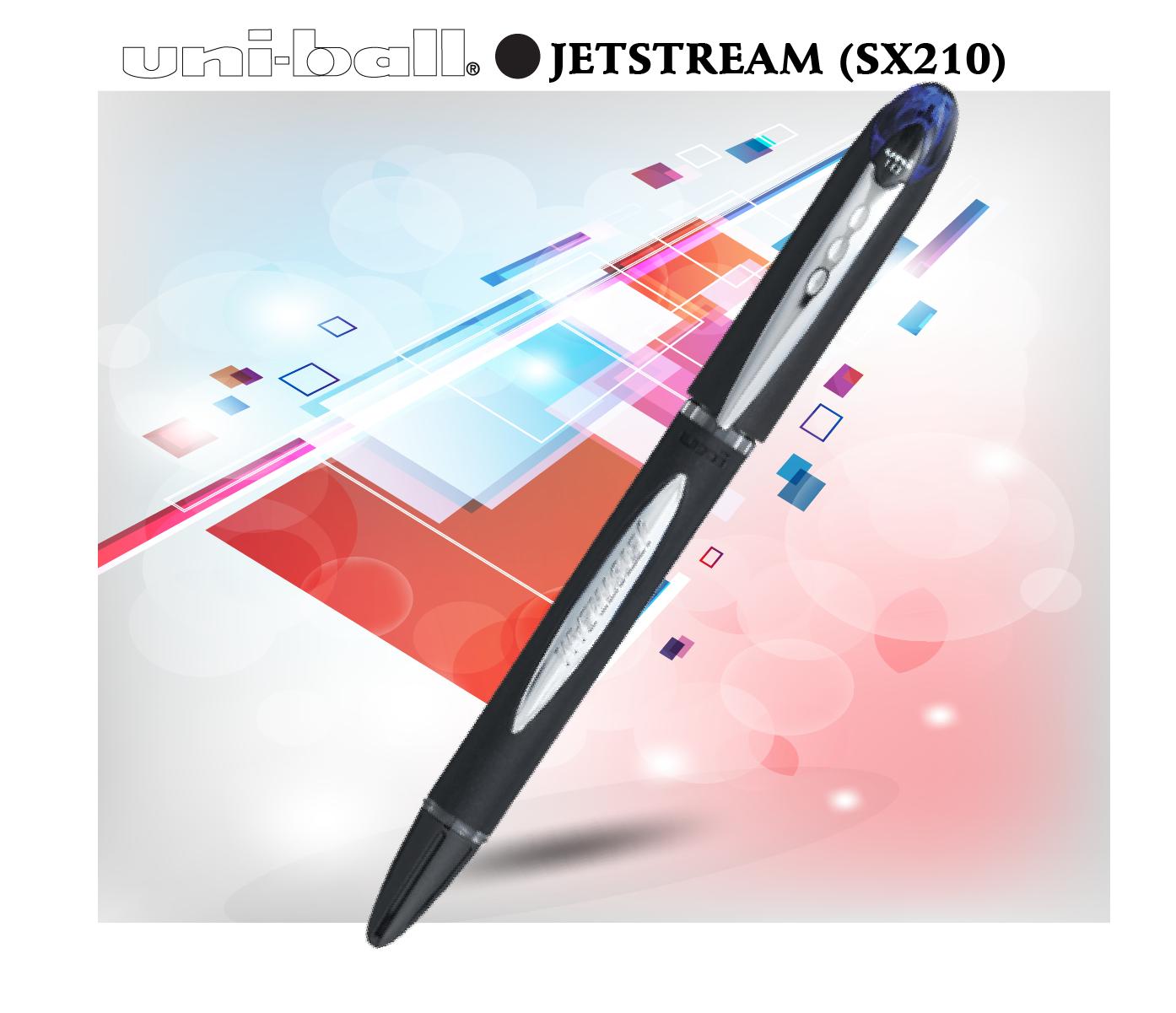 Bút bi nước đậy nắp UNI JETSTREAM (SX210)