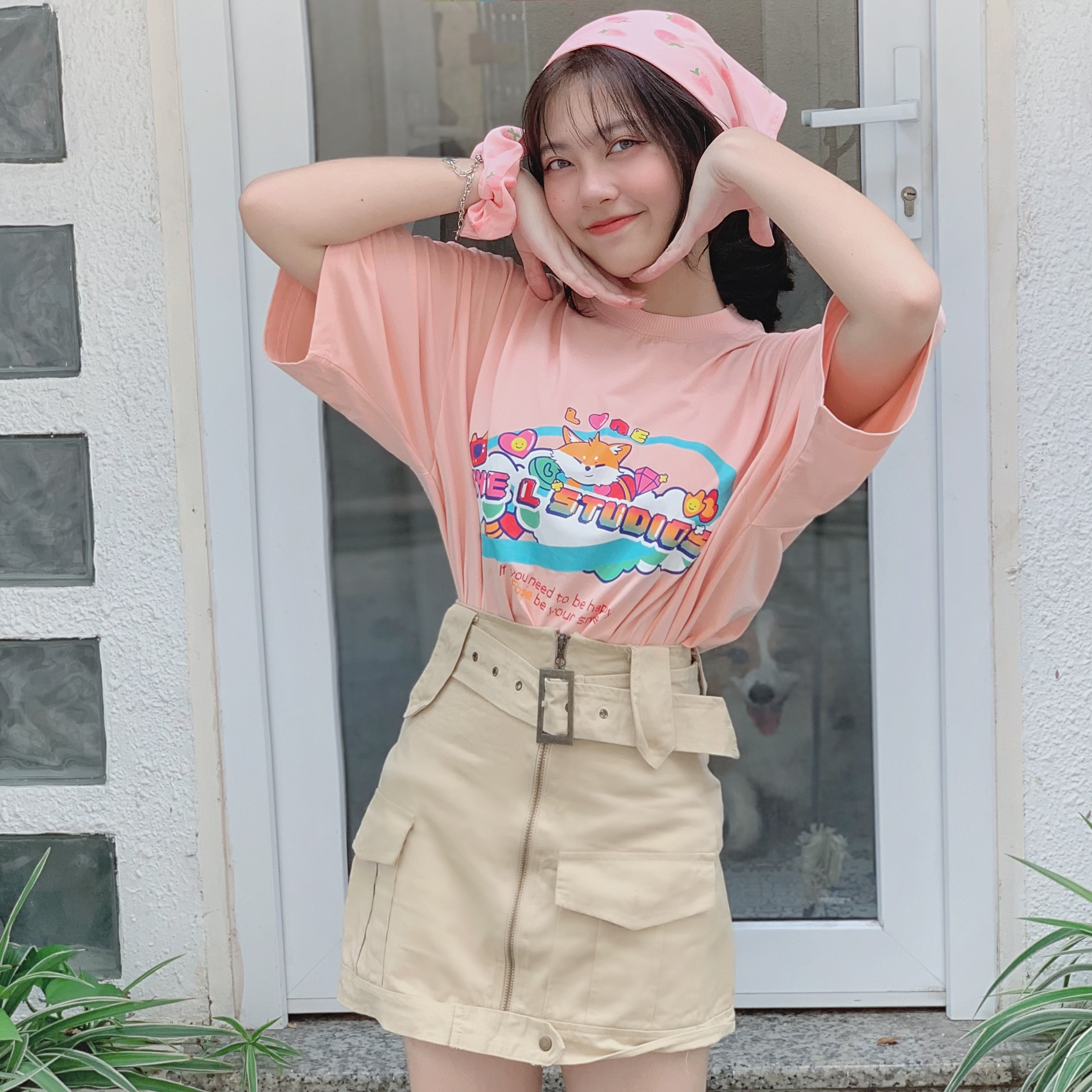Tee Foxie Land - Pink