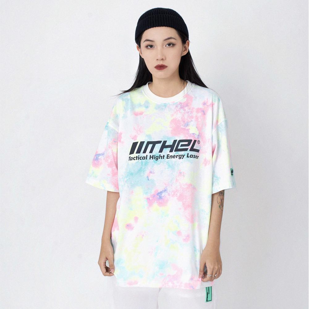 Tee Tie Dye+ Phản Quang - Hồng Xanh - 02
