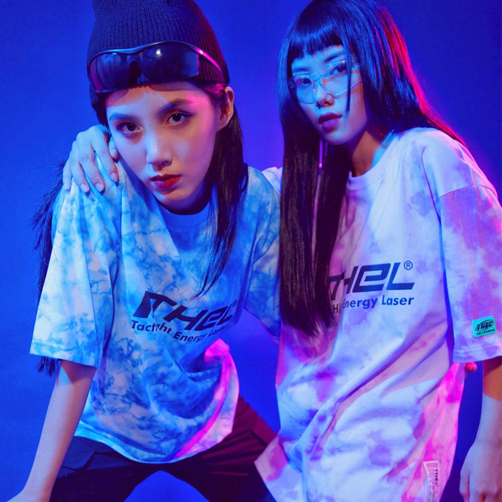 Tee Tie Dye+ Phản Quang - Xanh & Tím
