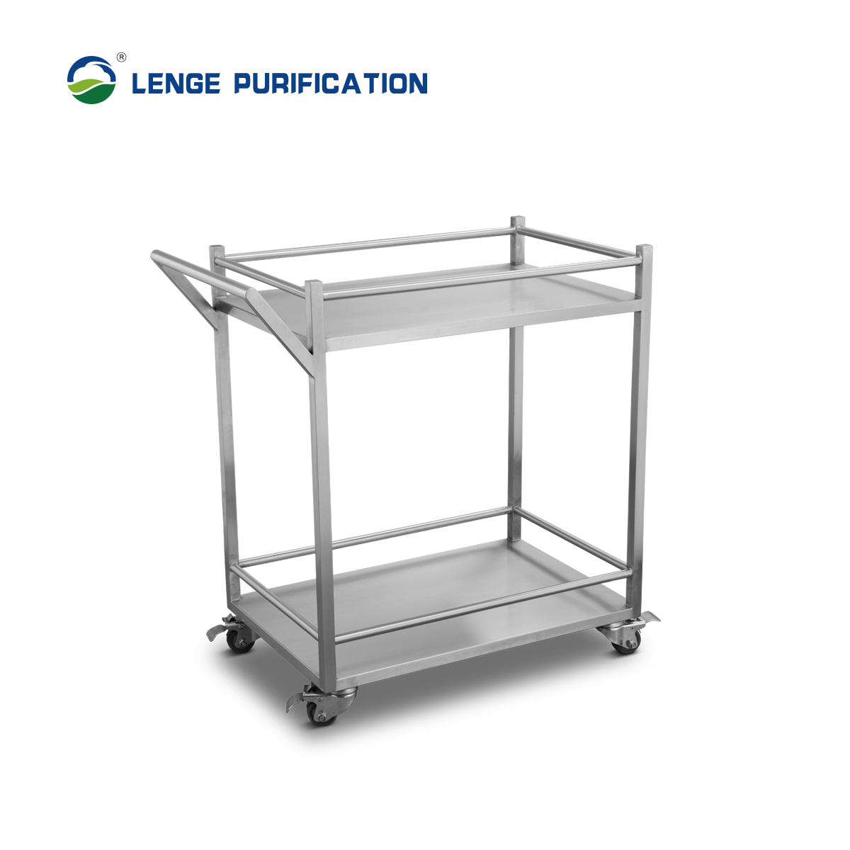 LENGE Pharma Stainless Steel Trolley