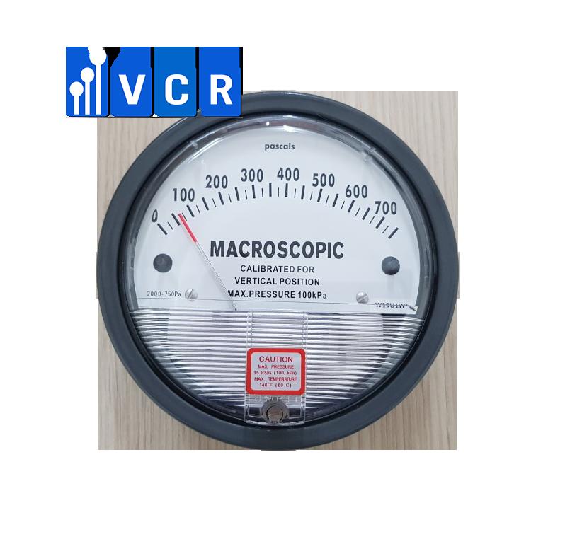 Clean Room Differential Pressure Gauge 0 – 750 Pa