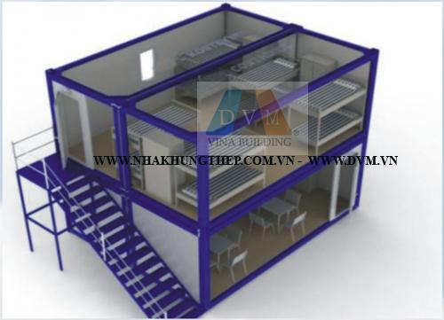 Nhà di động container 2 tầng