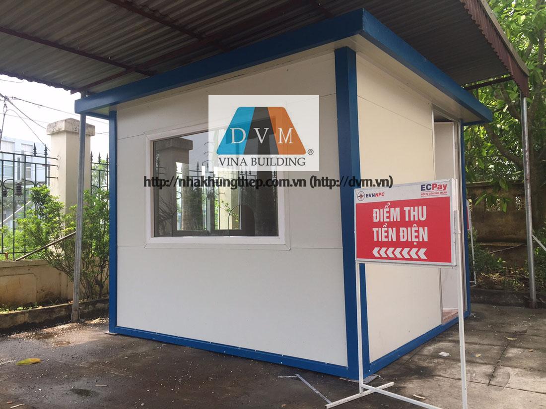 Bốt, cabin thu tiền điện bằng panel tôn xốp