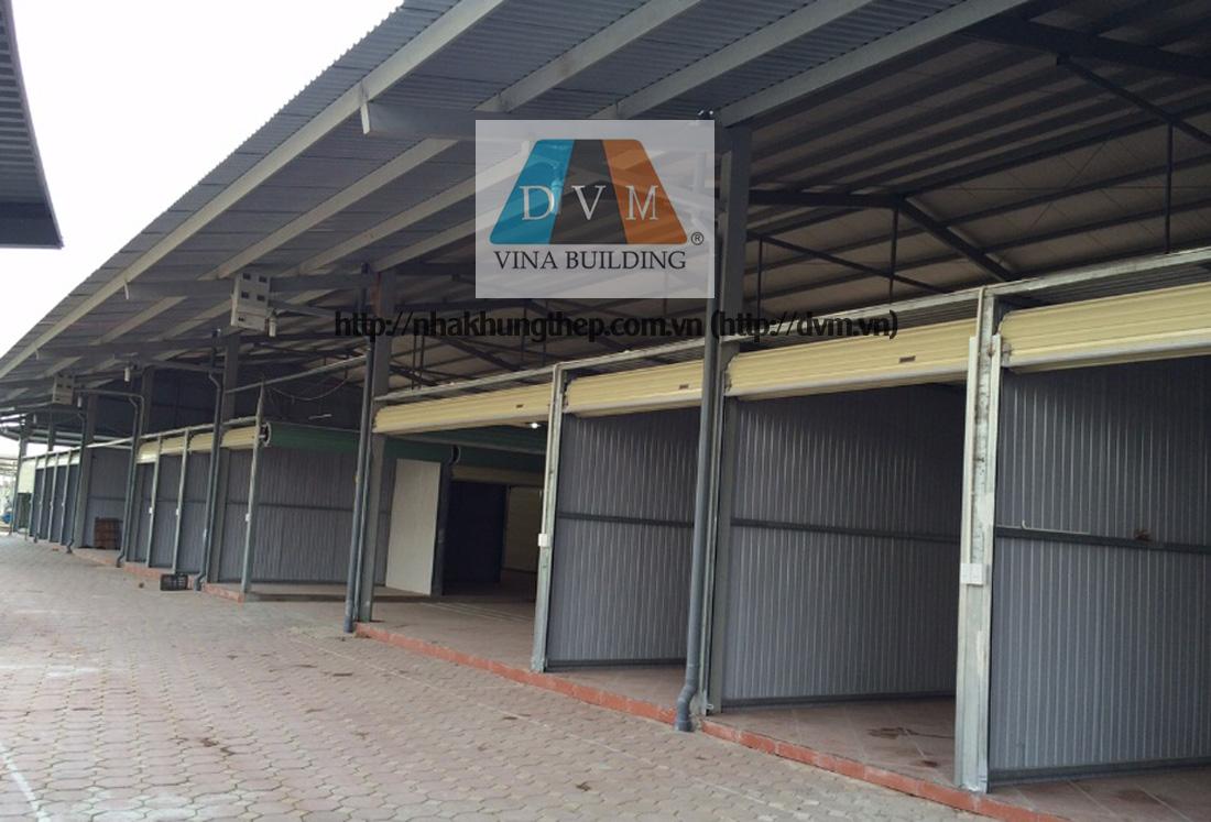 Nhà khung thép - Khu chợ Dầu Bắc Ninh