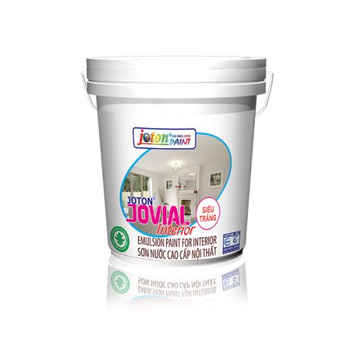 Sơn nội thất JOTON®JOVIAL Siêu trắng-Lau chùi hiệu quả (18L)