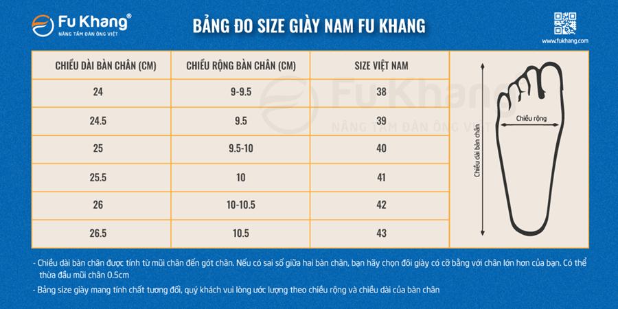 Bảng đo size giày nam đơn giản và hiệu quả nhất để xác định size giày của bạn lựa chọn cho mình đôi giày tây nam công sở đẹp nhất