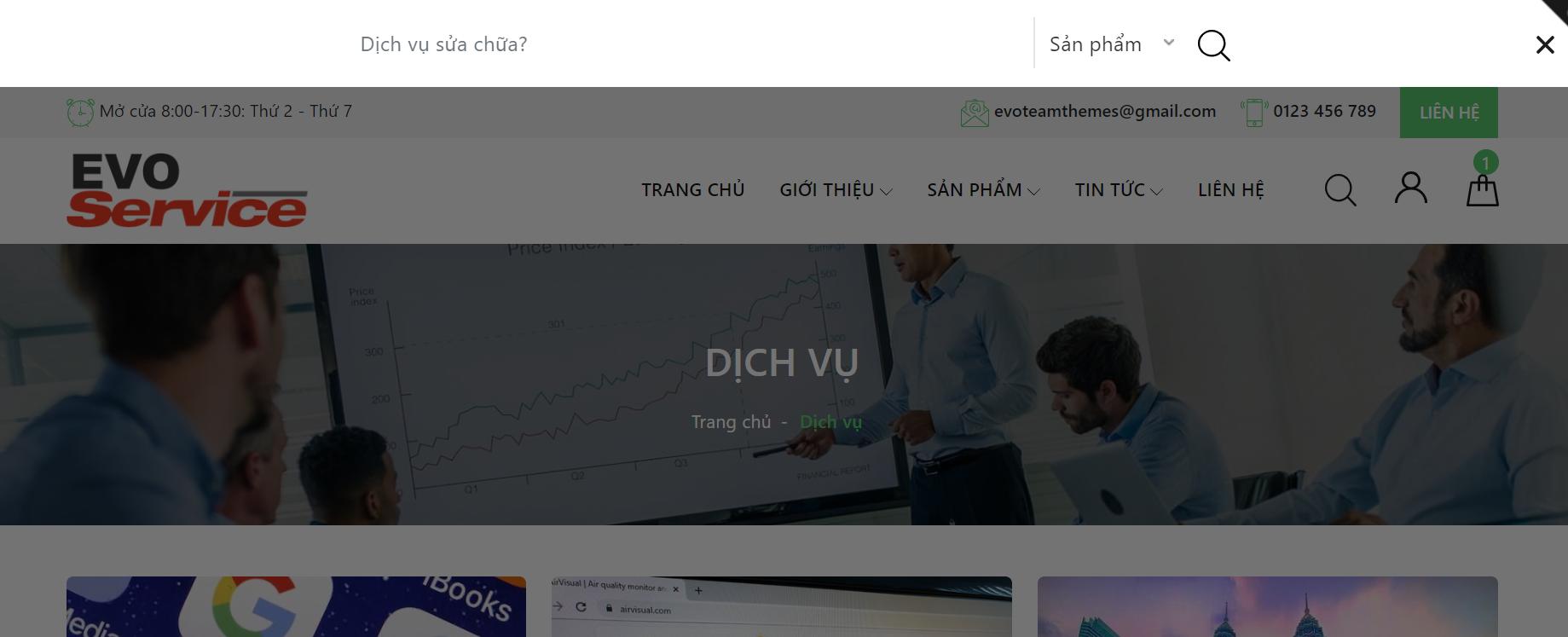 Evo Services Tìm kiếm
