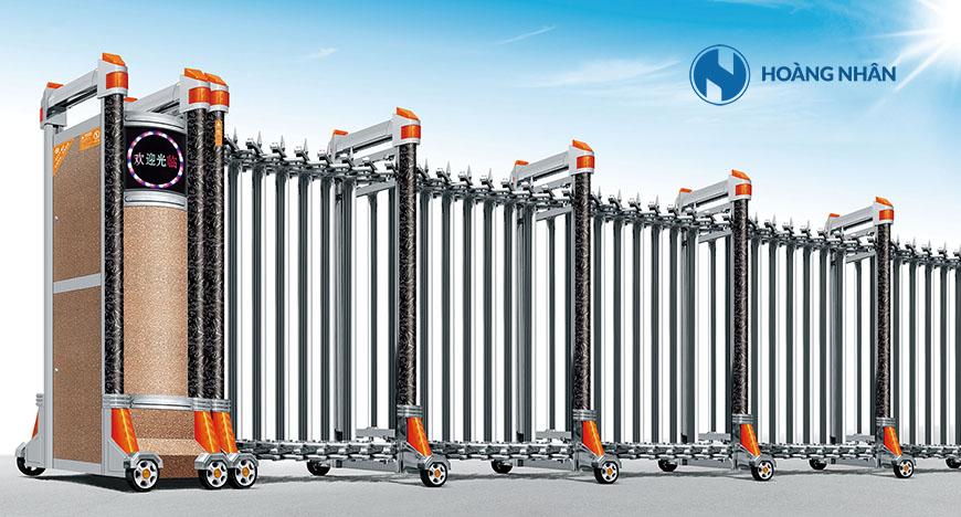 Mẫu Cổng xếp inox tự động Model HN-770