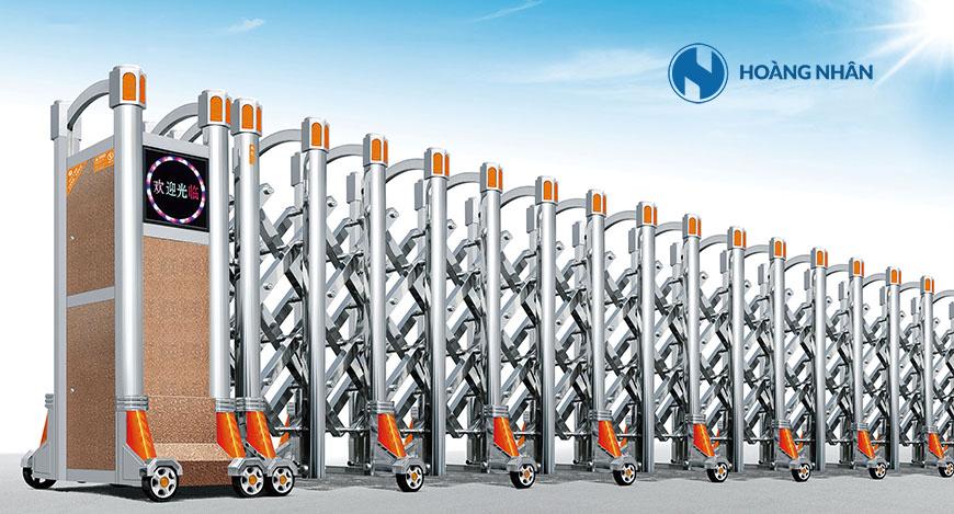 Model HN A1 - Cổng xếp inox cao cấp