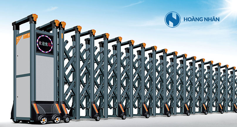 Mẫu Cổng xếp nhôm hợp kim Model HN-A808